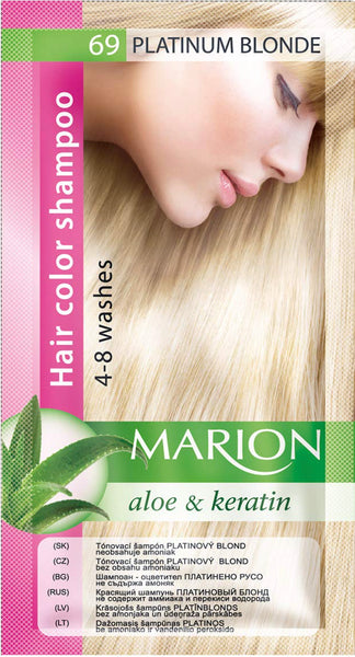 Marion Gray Hair Color Shampoo Hair Dye Kit with Aloe and Keratin (2 pack) - eveline-cosmetics