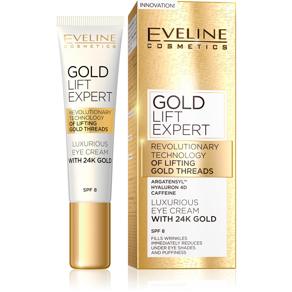 Gold Lift Expert Luxurious Eye Cream with 24K Gold eveline-cosmetics.myshopify.com