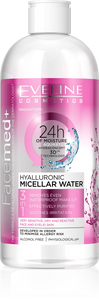 FaceMed+ Hyaluronic Micellar Make Up Removing Water for Sensitive and Dry Skin - eveline-cosmetics