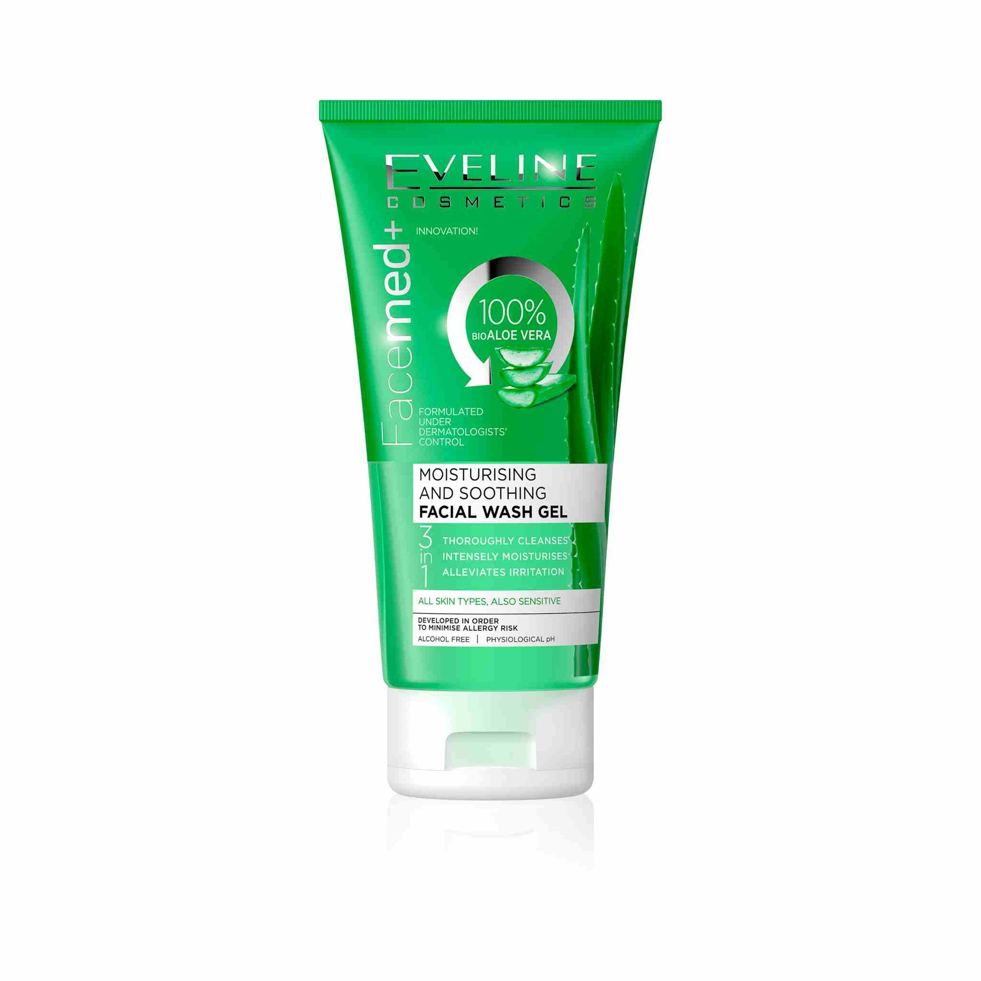 Moisturizing and Soothing Aloe Vera Facial Wash Gel