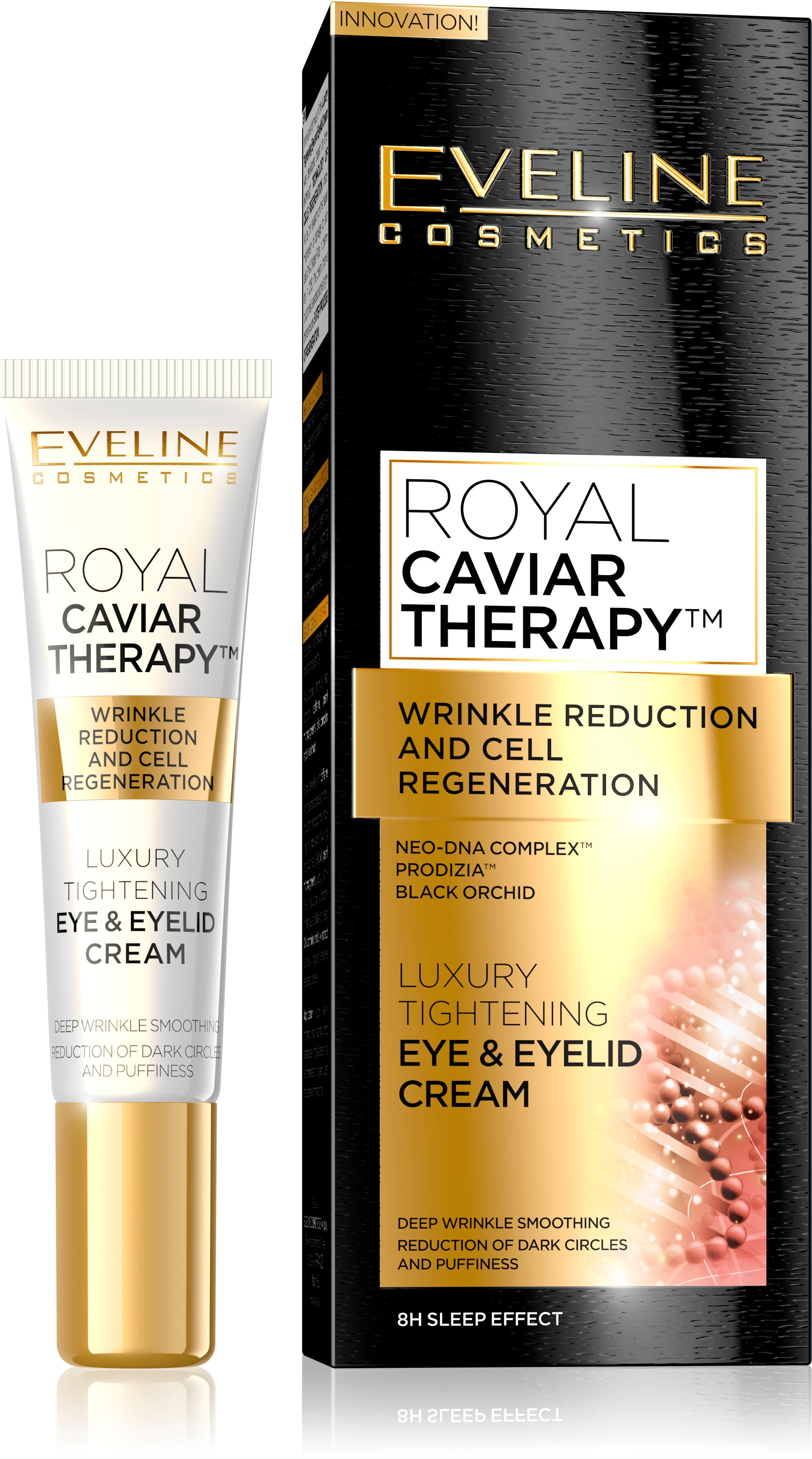 Eveline Royal Caviar Anti Wrinkle Firming Eye Cream SPF10 15ml eveline-cosmetics.myshopify.com