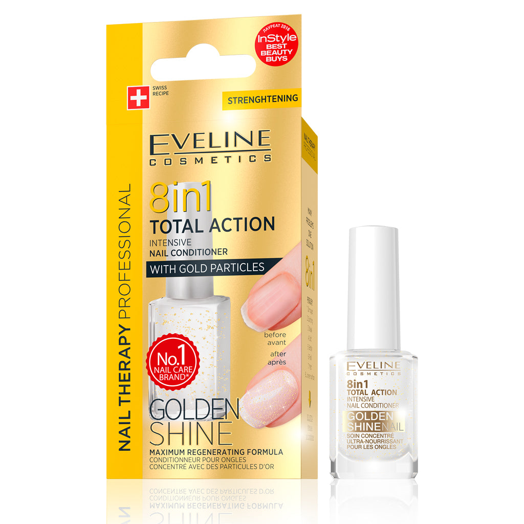 Total Action 8 in 1 Intensive Nail Conditioner with Gold Particles (12 ml)