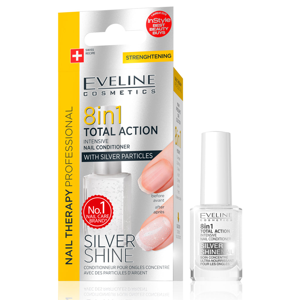 Total Action 8 in 1 Intensive Nail Therapy Conditioner with Silver Shine (12 ml)