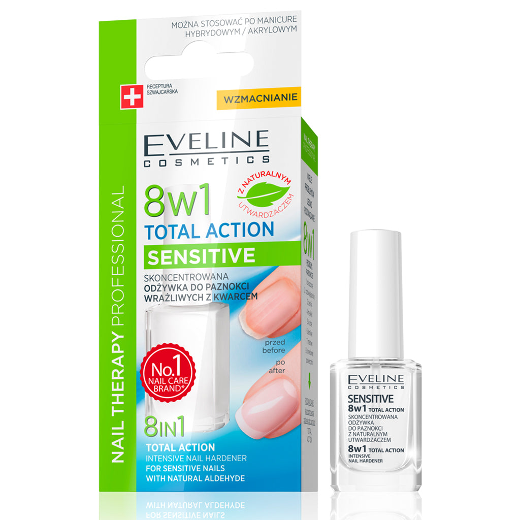 Total Action 8 In 1 Intensive Nail Treatment and Conditioner for Sensitive Nails (12 ml)