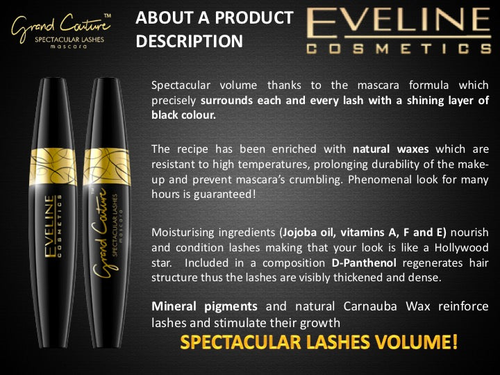 Eveline Cosmetics Grand Couture Mascara Spectacular Black Lashes
