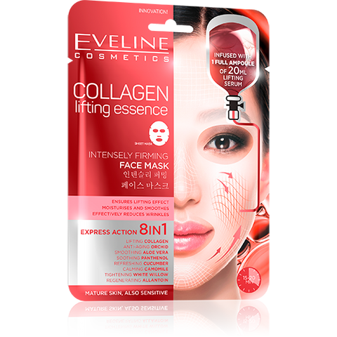Collagen Lifting Essence Intensely Firming Face Mask eveline-cosmetics.myshopify.com