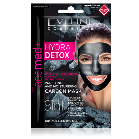 Hyrda Detox Purifying and Moisturizing Carbon Mask