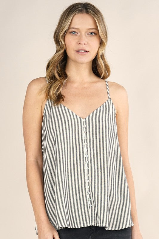BUTTON DOWN CAMI