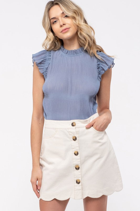 BLUSA DUSTY BLUE