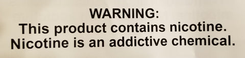 Warning on nicotine