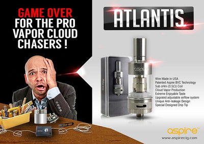 Aspire Atlantis replacement coils  .5 ohm 5pack