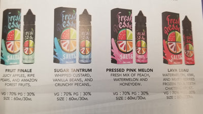 Fresh pressed premium e-liquid - salts