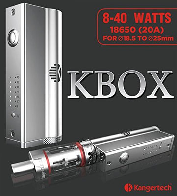 KBOX 40W box Mod Variable Wattage silver at Lakeshore Vapors