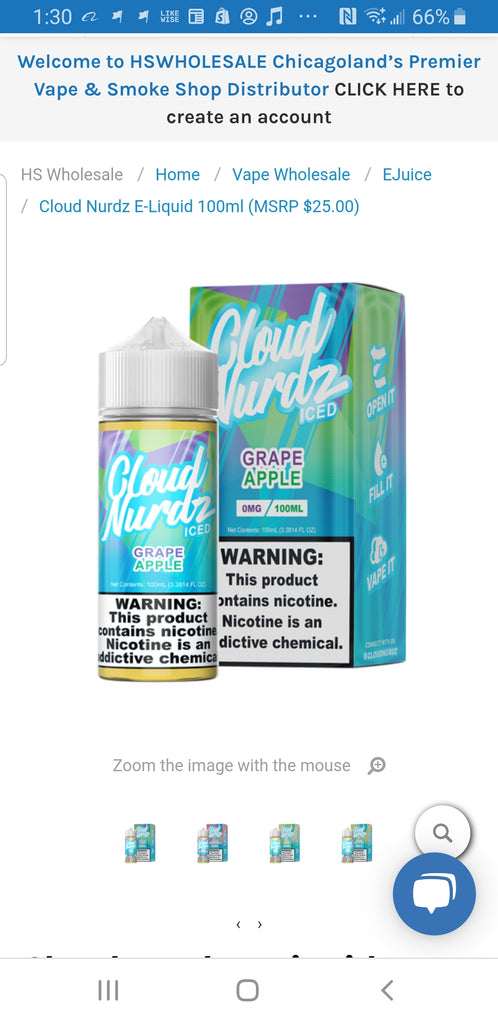 Cloud Nurdz E - Liquid