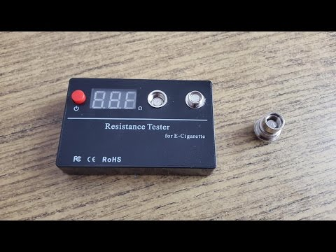 Tester for testing the resistance of your battery and atomizer