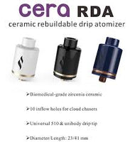 Cera RDA By Tsing-Master Tech On Sale at Lakeshore Vapors in Muskegon Michigan