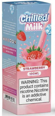 Chilled Milk Strawberry 100ml by Tasty cloud vape