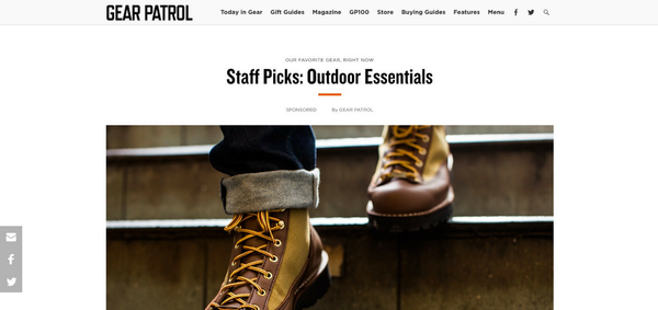 Gear Patrol: Outdoor Essentials