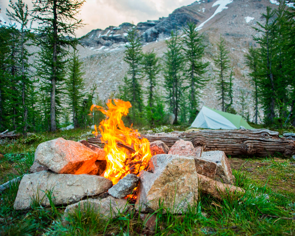 photographer viktoria wakefield's campsite during a trip to purcell mountains in BC