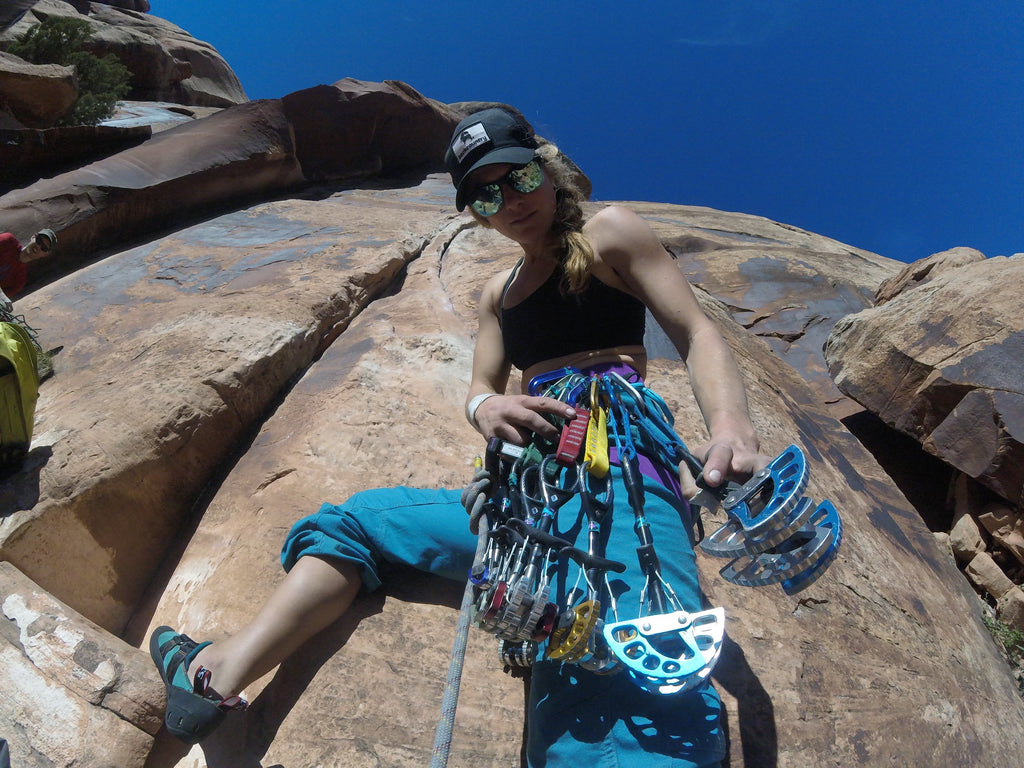fits sock ambassador bree buckley climing mountain