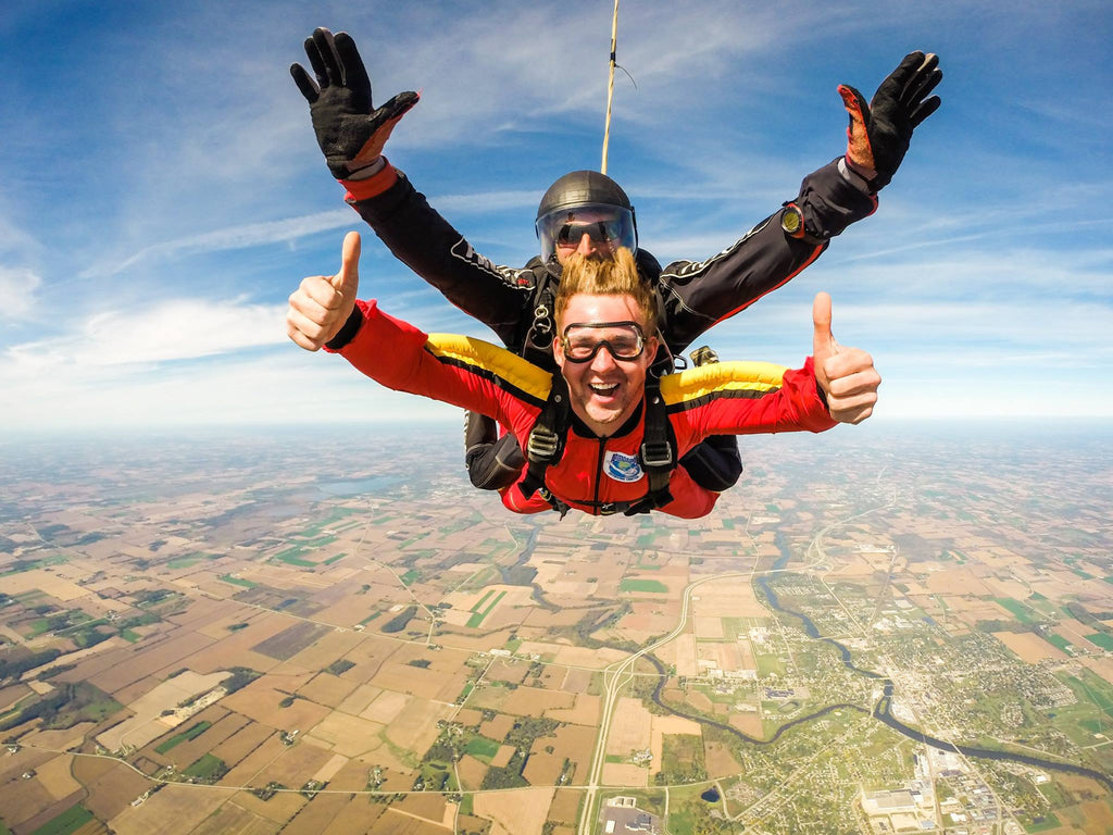 fits sock ambassador brandon thome-neitzel skydiving