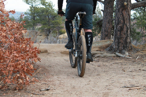 mountain biker wearing fits socks