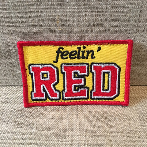"""Feelin Red"" patch"