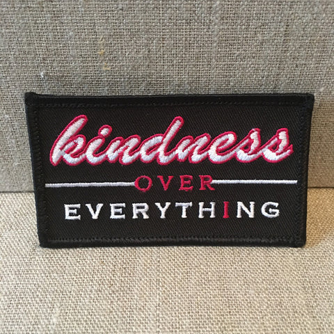"""Kindness Over Everything"" black/pink patch"