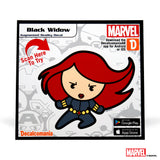 Black Widow Kawaii Sticker