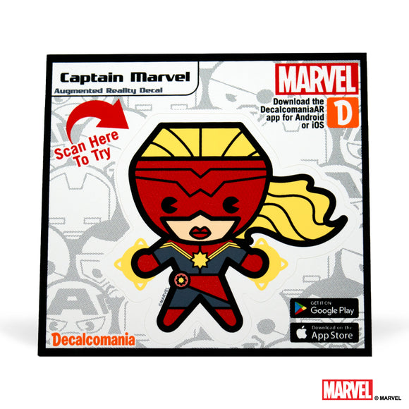 Captain Marvel Kawaii Sticker