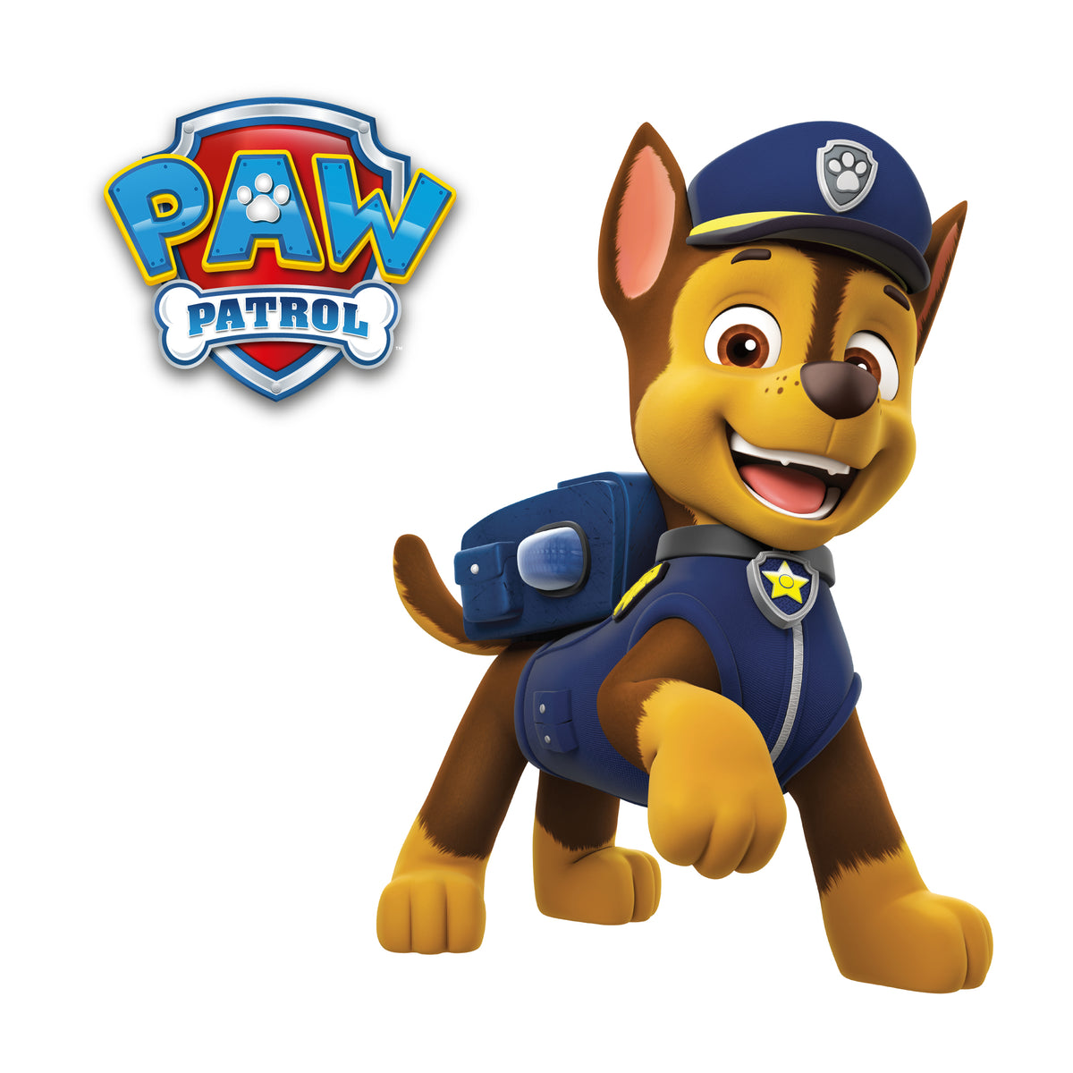 Paw Patrol Chase Interactive Wall Decal Wall Palz
