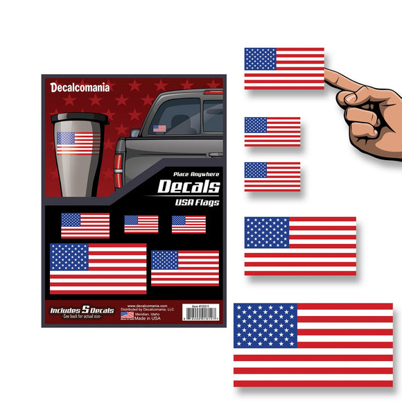 USA American Flag Place Anywhere Decals