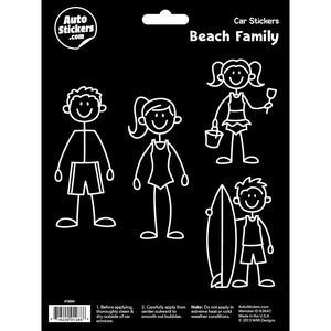 Beach Family Stickers