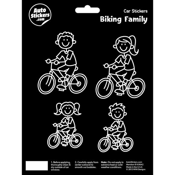 Biking Family Stickers
