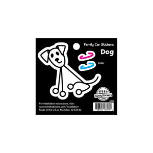 Color Dog Family Car Sticker