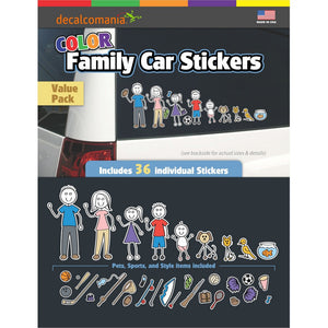 Color Accent Cool Family Stickers - Value Kit