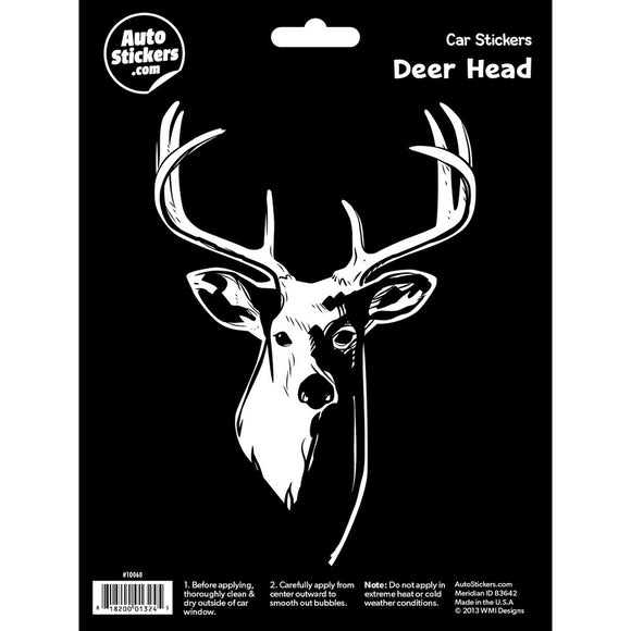 Deer Head Car Sticker Decal