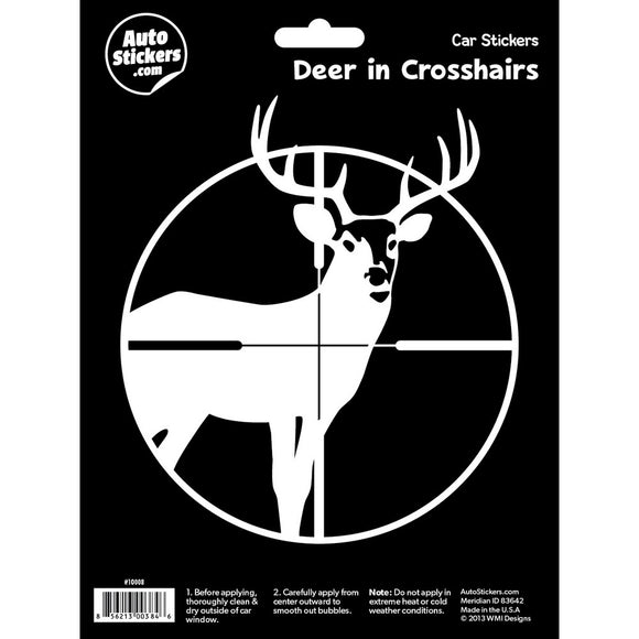 Deer in Crosshairs Car Sticker Decal