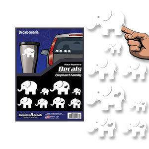 Elephant Family Car Stickers