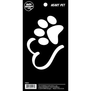 "Heart Pet Sticker - 4"" x 8"""