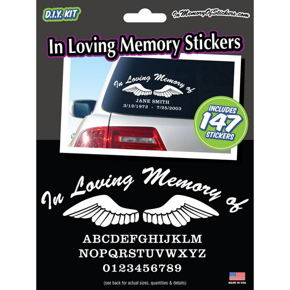 In Loving Memory Stickers - Value Kit
