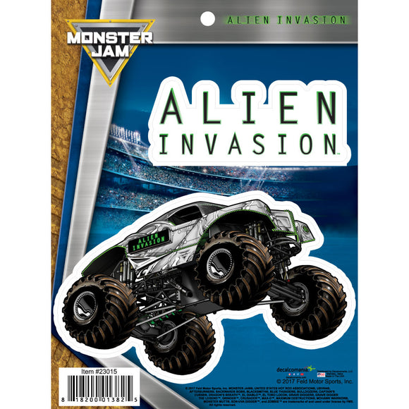 Monster Jam Alien Invasion Truck Decals
