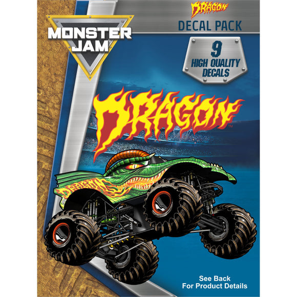 Monster Jam Dragon Trucks Decal Pack