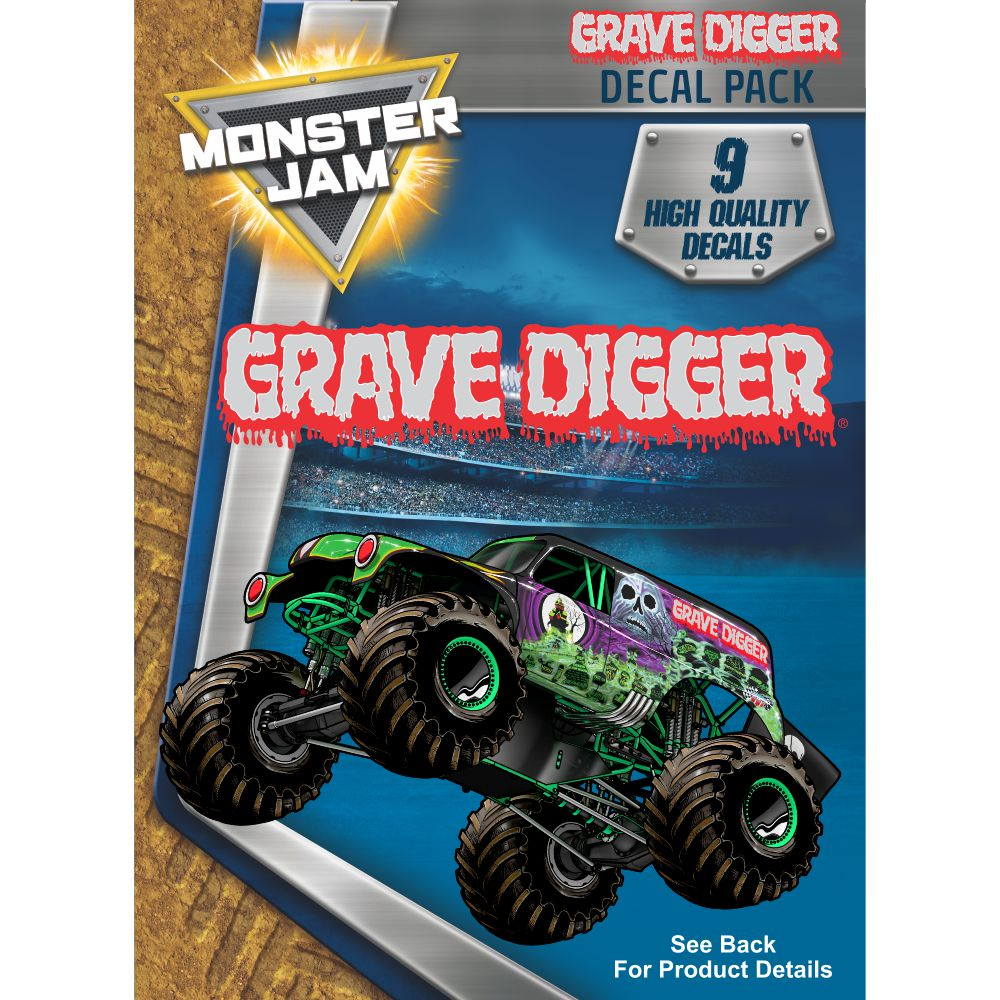 Grave Digger Truck Decal Pack Monster Jam Stickers
