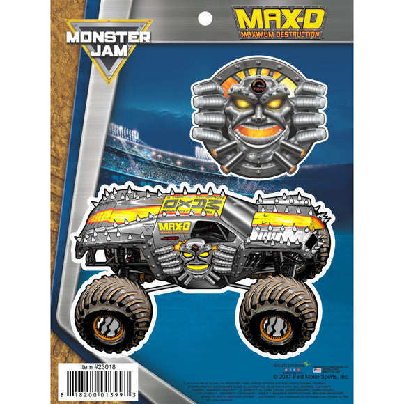 Monster Jam Max-D Truck Decals
