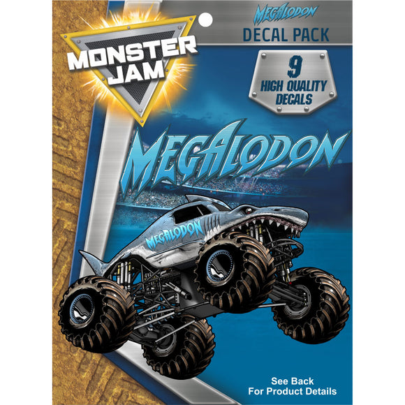 Monster Jam Megalodon Decal Pack