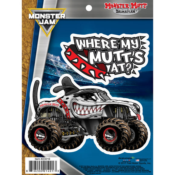 Monster Jam Monster Mutt Dalmatian Truck Decals Car Stickers