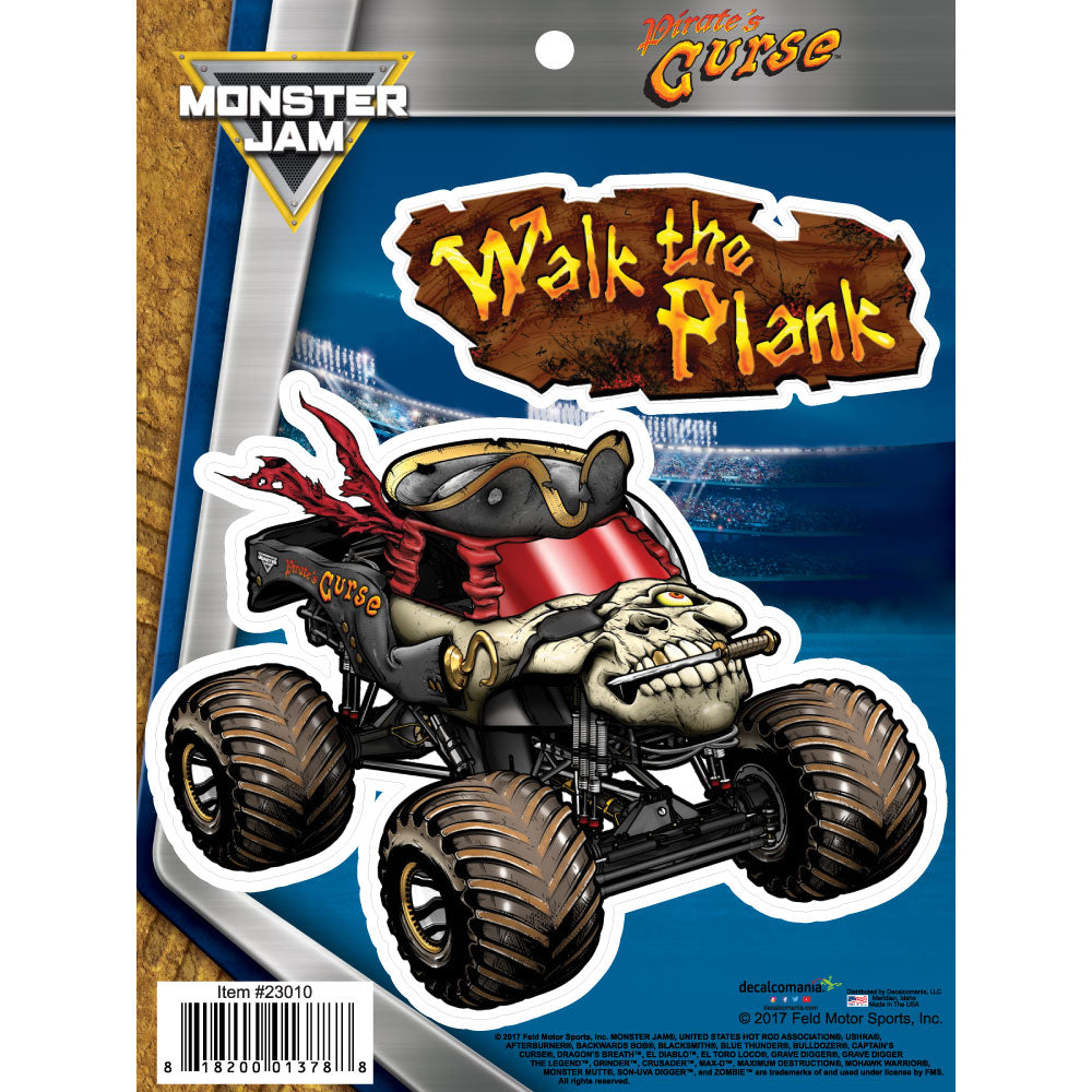Pirate S Curse Truck Decal Pack Monster Jam Stickers