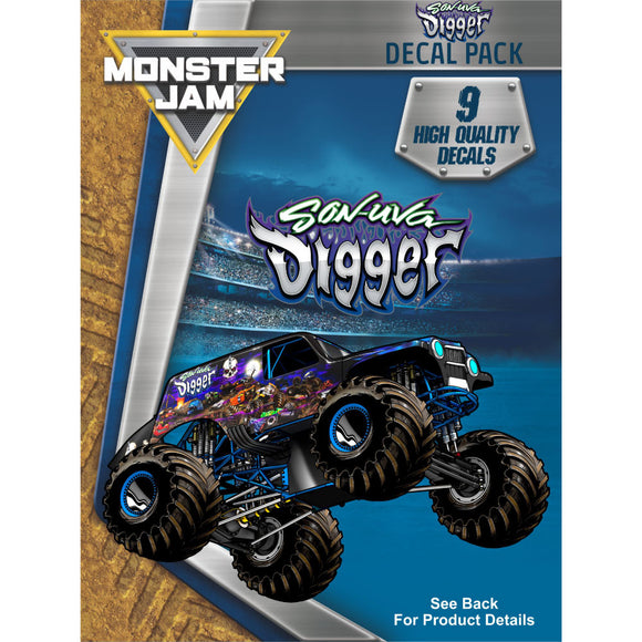 Monster Jam Son Uva Digger Decal Pack