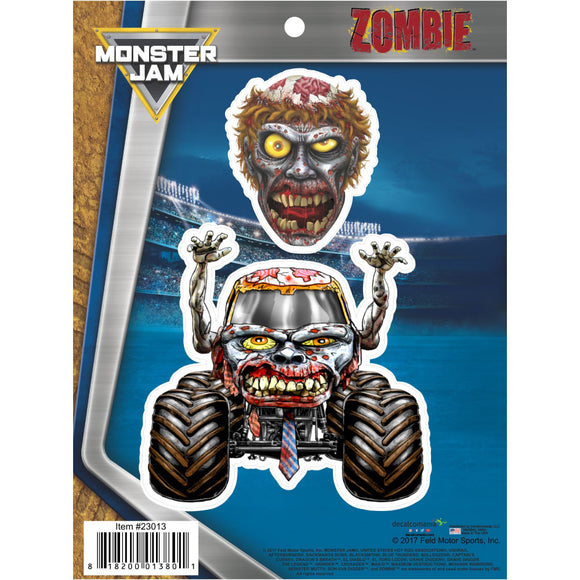 Monster Jam Zombie Truck Decals Car Stickers